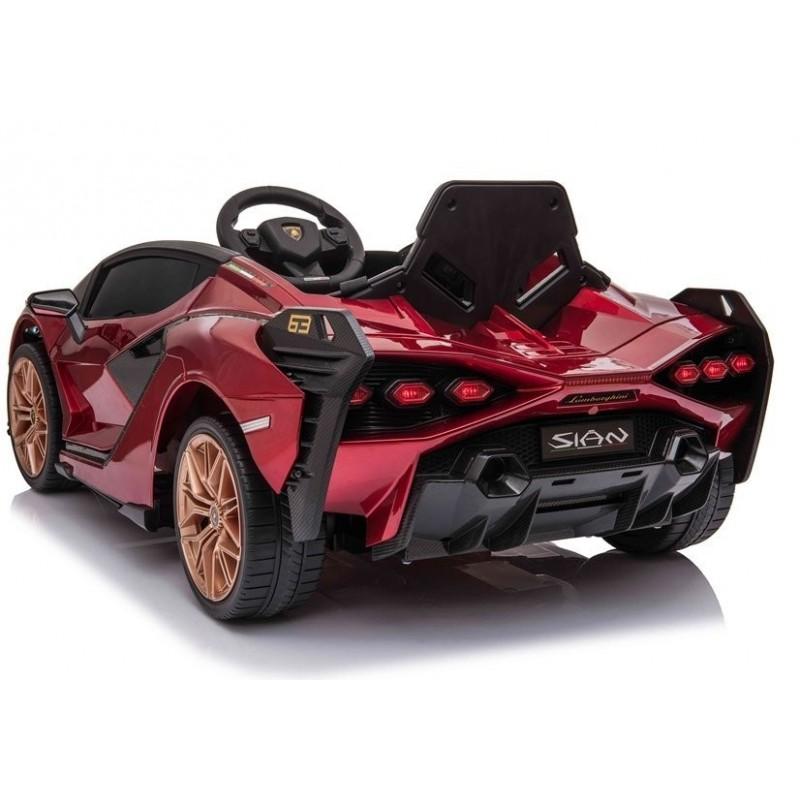 Elektromobilis LAMBORGHINI SIAN, 12V, raudonas lakuotas
