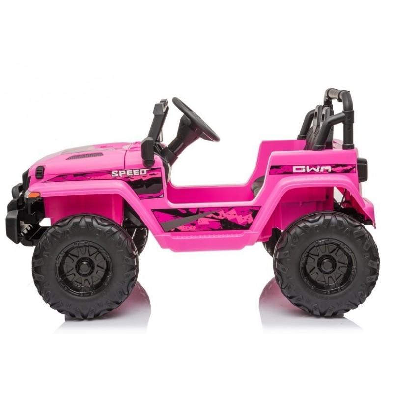 Elektromobilis CH9956, 12V, rožinis