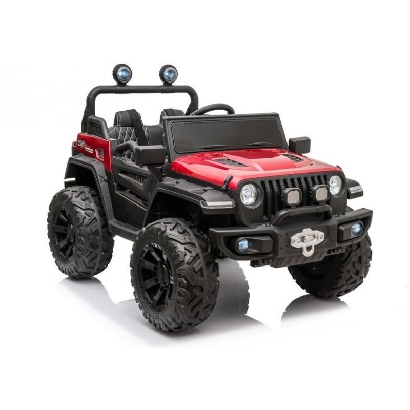 Elektromobilis Jeep HC8988, 4x4, 12V, raudonas lakuotas
