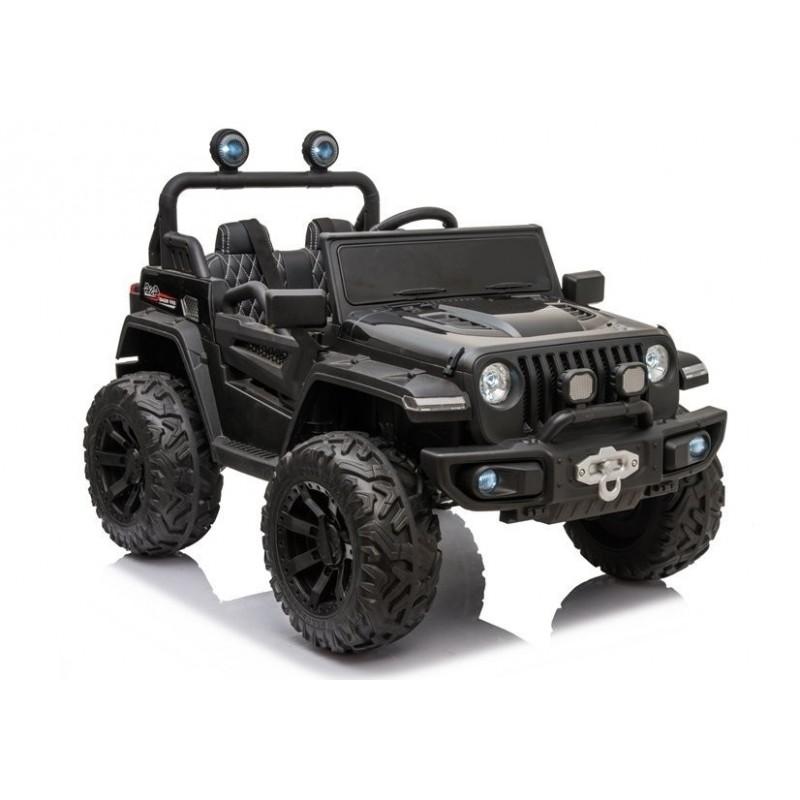 Elektromobilis Jeep HC8988, 4x4, 12V, juodas lakuotas