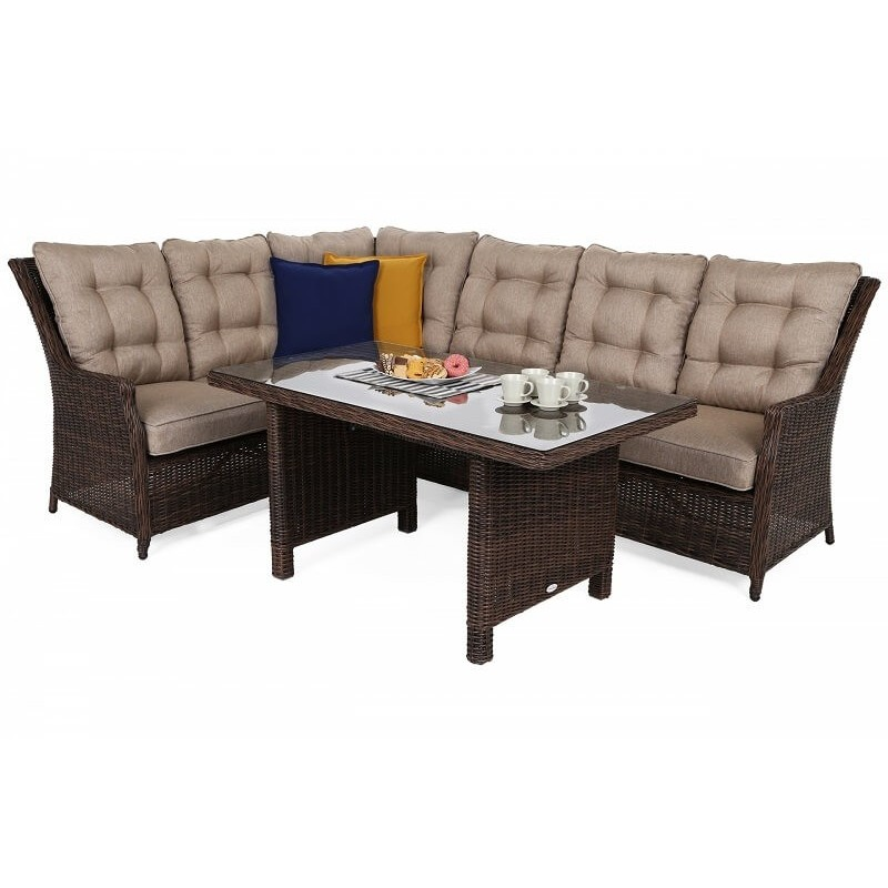 Lauko baldai ALIKANTE BROWN MAT/ BROWN MELANGE (kairinis)