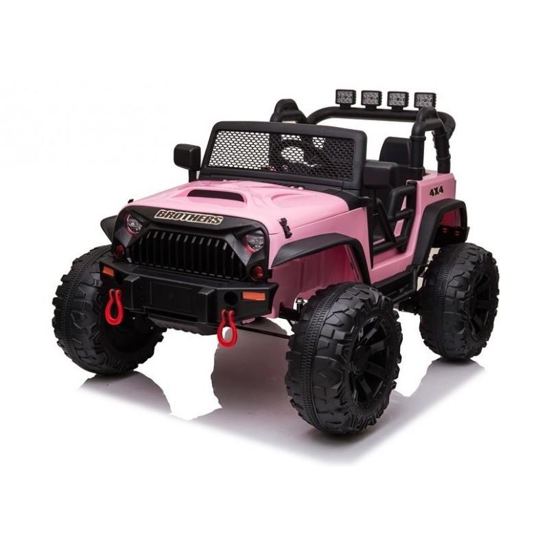 Elektromobilis JEEP JC666, 2x12V, rožinis