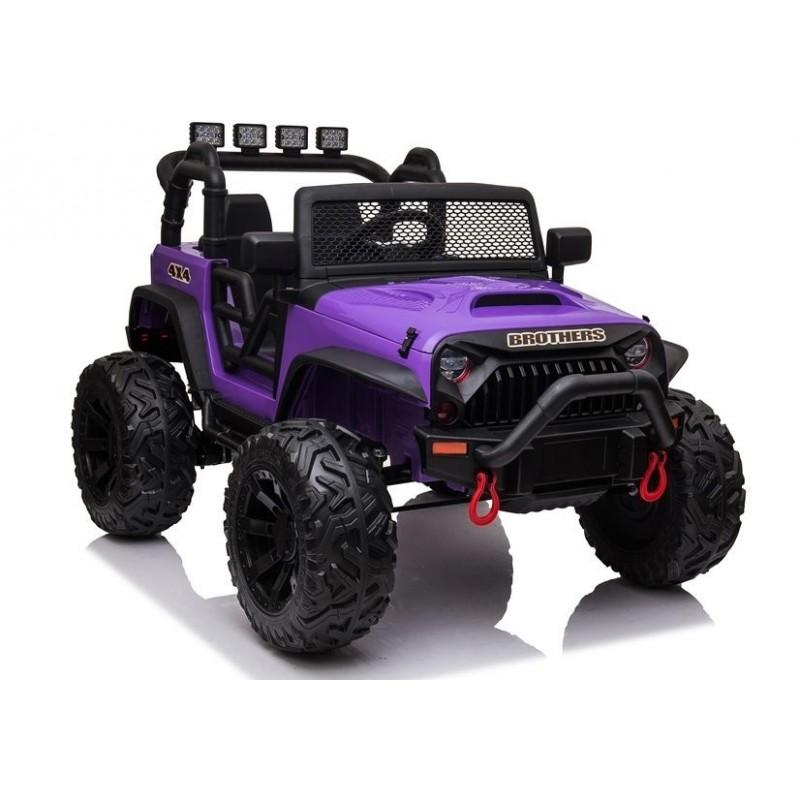 Elektromobilis JEEP JC666, 2x12V, violetinis