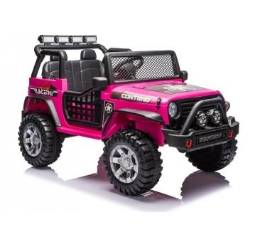 Elektromobilis XMX618 su LCD, 4x4, 2x12V, rožinis