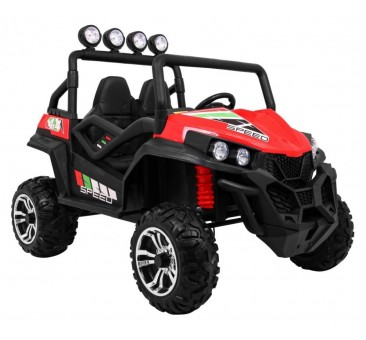 Elektromobilis BUGGY SUPERSTAR, 4x4, 2x12V, raudonas su MP4