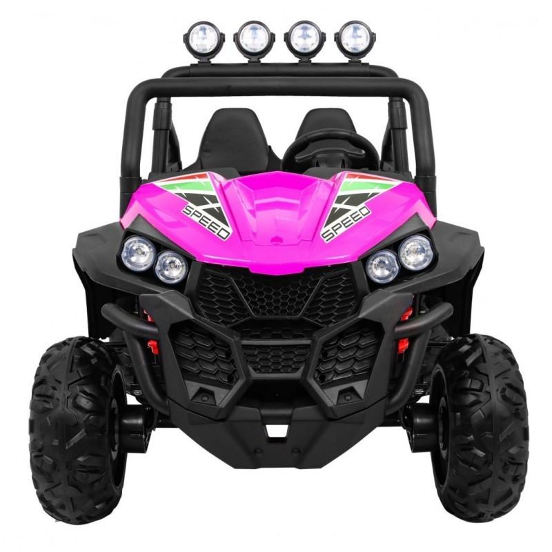 Elektromobilis GRAND BUGGY , 4x4, 2x12V, rožinis
