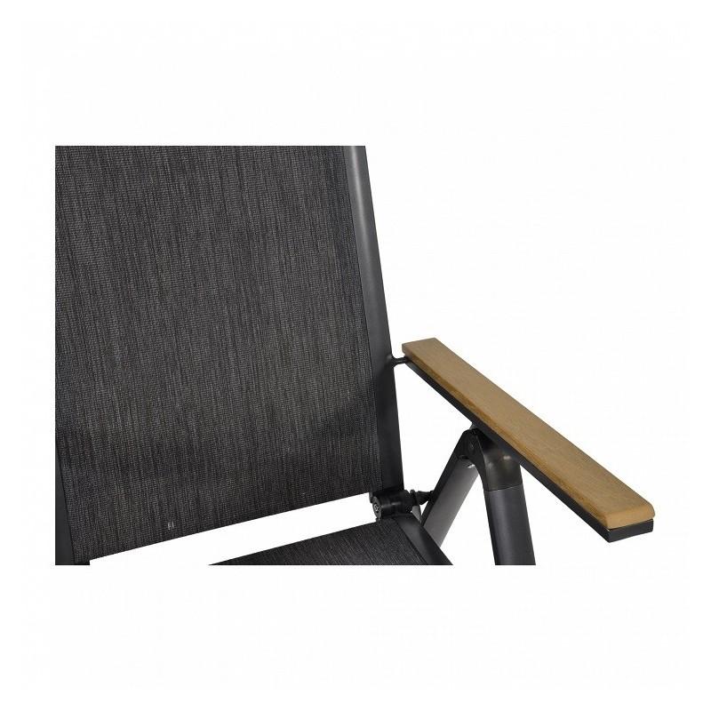 Pilka kėdė AREZZO su reguliuojamu atlošu