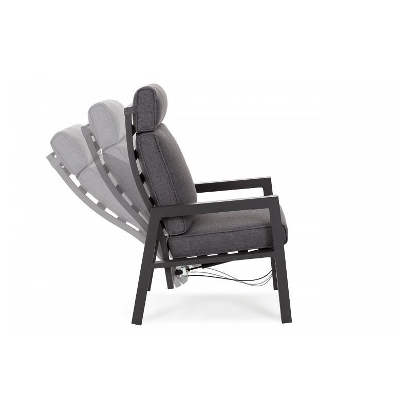 Lauko poilsio kėdės MORTON DARK GREY/ GREY
