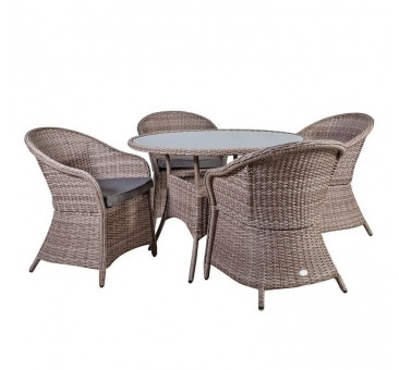 Lauko baldų komplektas SIENA 4+1