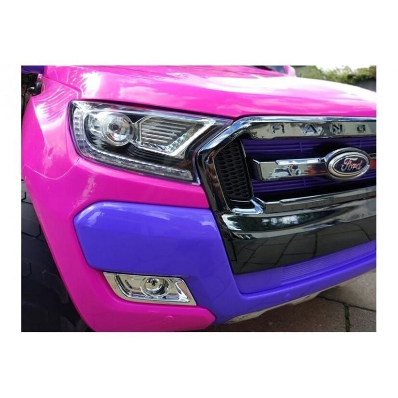 Elektromobilis FORD 4x4, 2x12 V su LCD ekranu rožinis