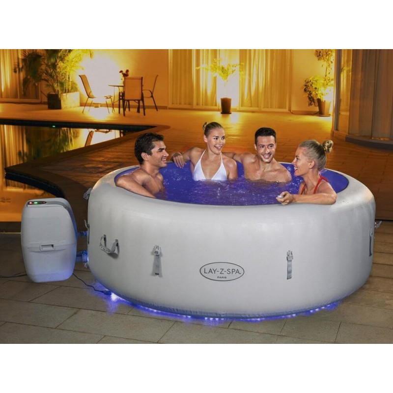 BESTWAY baseinas Lay-Z-Spa PARIS su LED 6 žmonėms