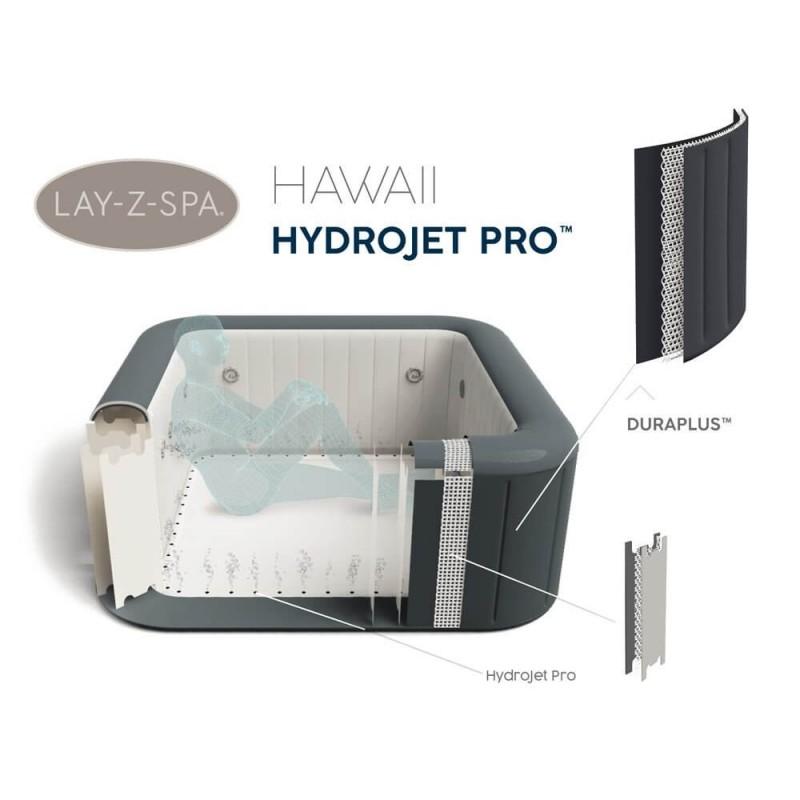 BESTWAY baseinas Lay-Z-Spa HAWAII HYDROJET 4-6 žmonėms