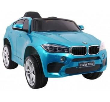 Elektromobilis BMW X6M lakuotas mėlynas vienvietis