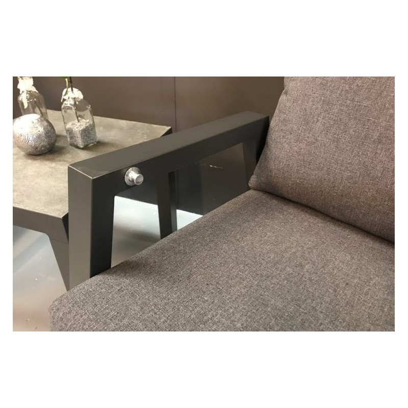 Lauko baldų komplektas OHIO  su triviete sofa, MOJITO stalas
