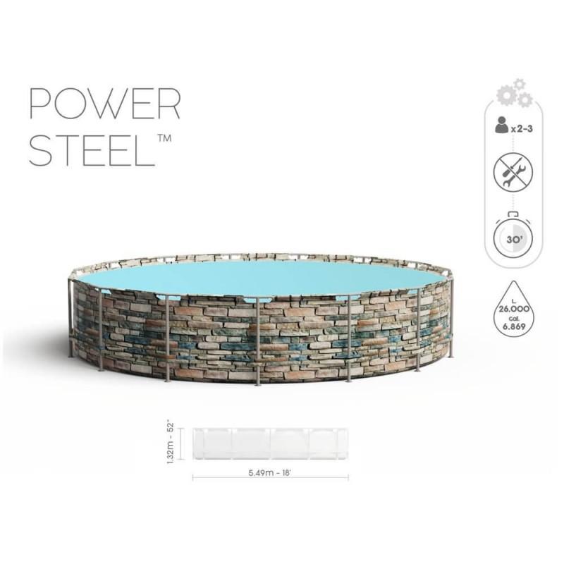 Baseinas BESTWAY POWER STELL  549x132cm STEEL PRO 11 in 1