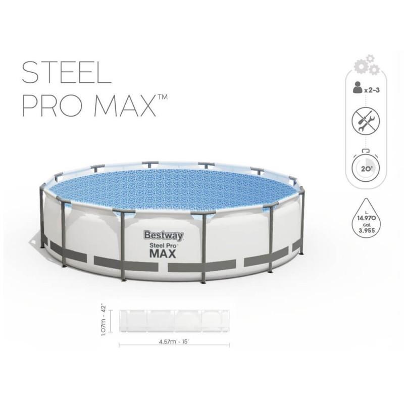 Baseinas BESTWAY STEEL PRO MAX 457x107cm 11 in 1