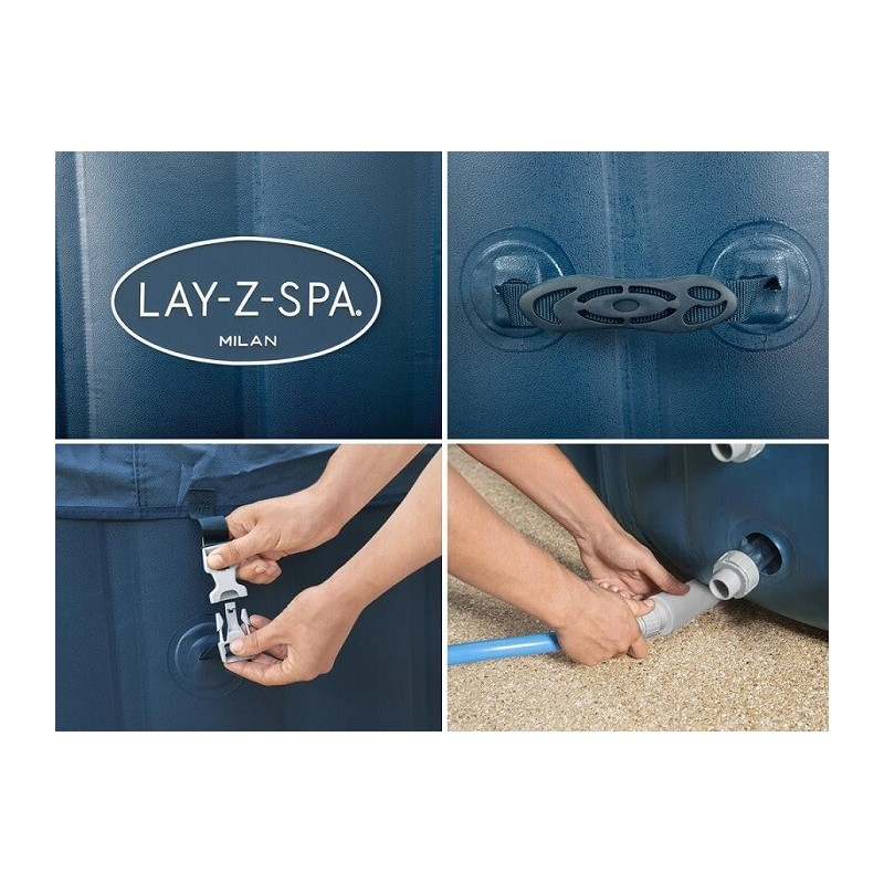 BESTWAY baseinas Lay-Z-Spa MILAN 4-6 žmonėms