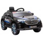 Policijos elektromobilis MERCEDES EQC 400, 12V juodas