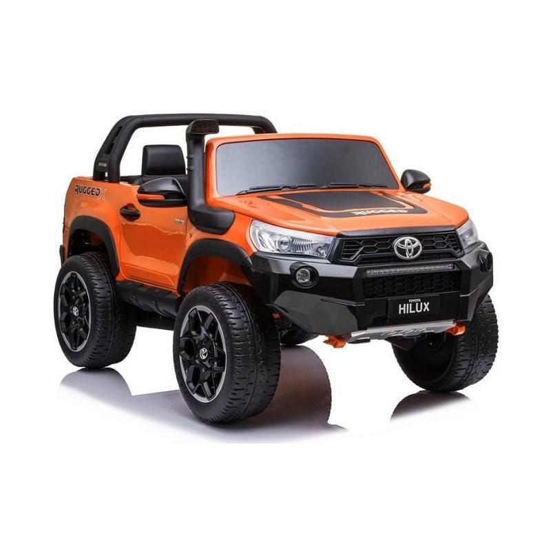 Elektromobilis TOYOTA HILUX, oranžinis ,lakuotas, 4x4