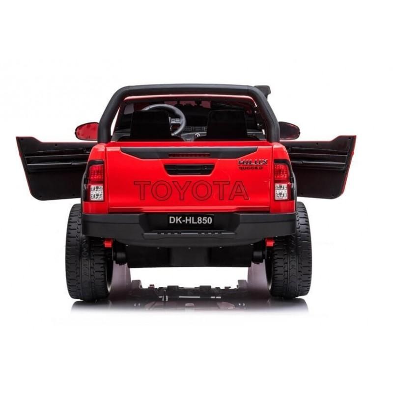 Elektromobilis TOYOTA HILUX, raudonas, lakuotas, 4x4