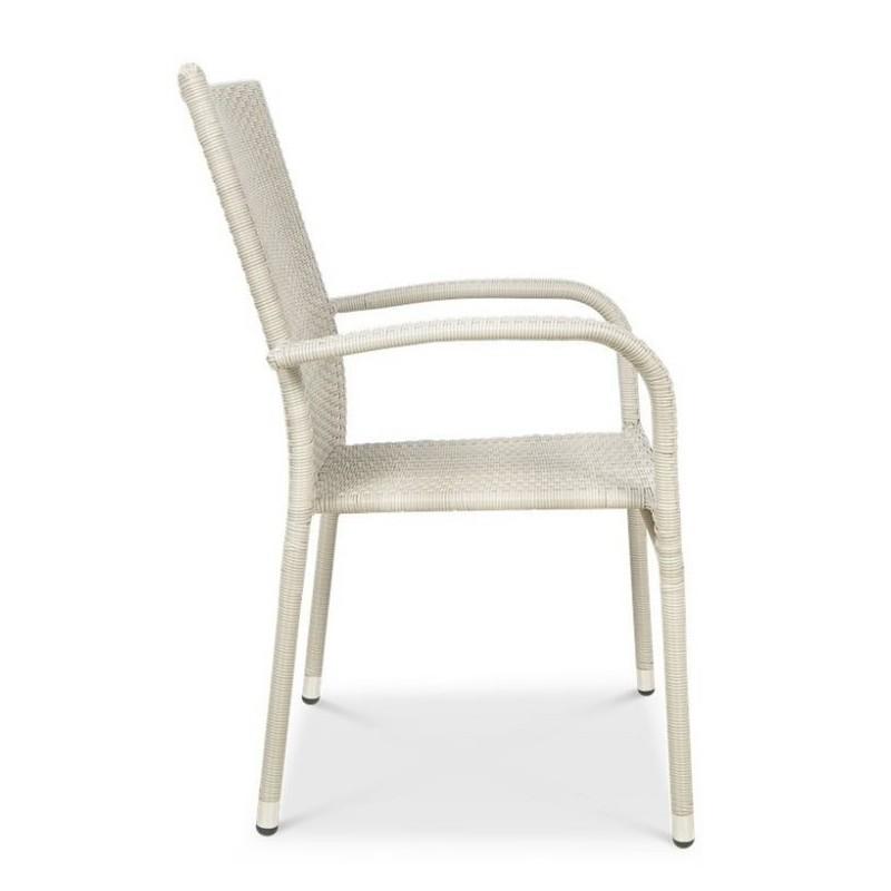 Sodo baldų rinkinys FIESTA/LUGO 4+1 WHITE