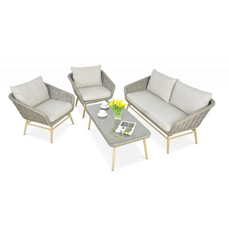 Sodo baldų komplektas ROCA GREY, pilkos spalvos