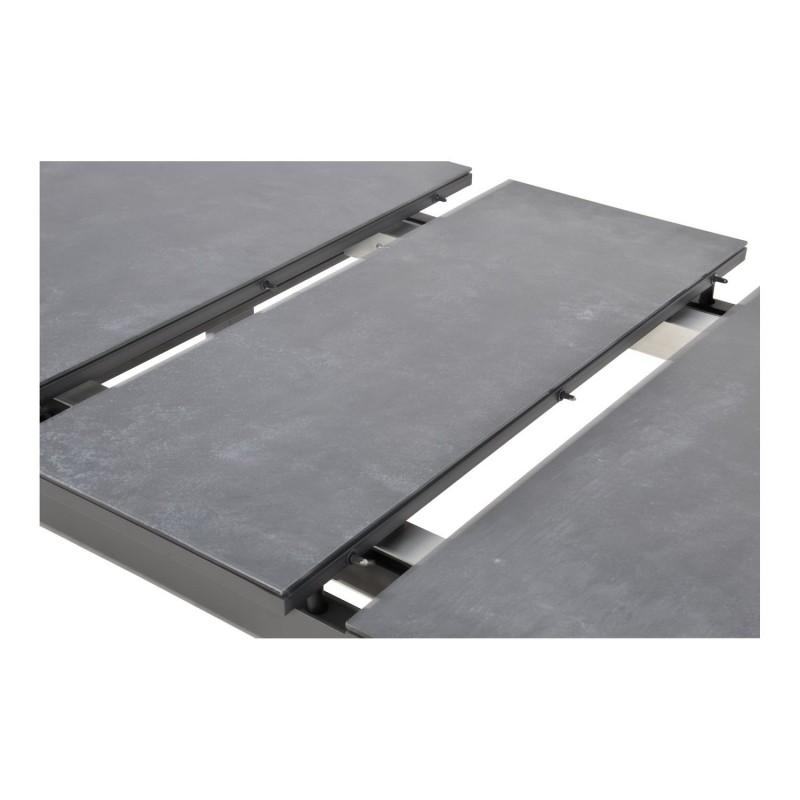 Išplečiamas sodo stalas BALENO NEGRO, 130/160x75x76