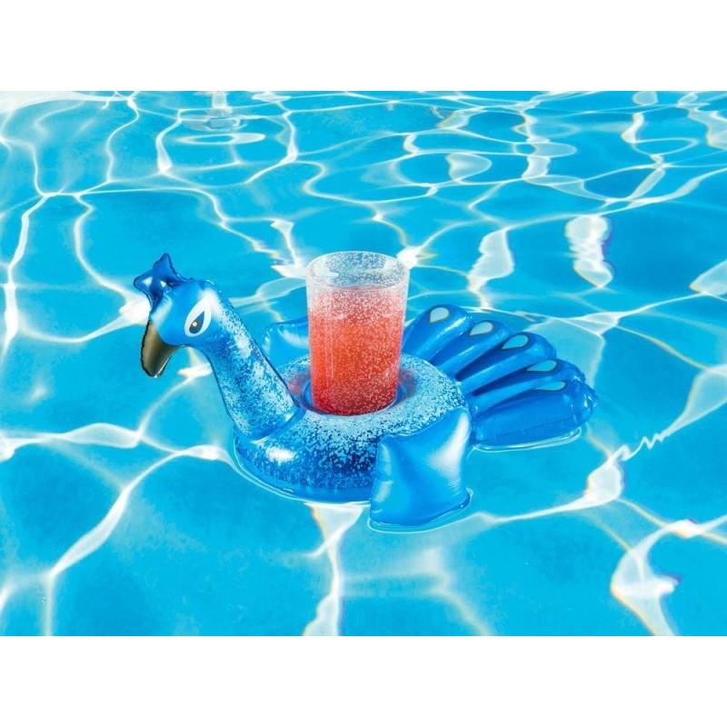 Plaukiojantis gėrimų laikiklis-povas