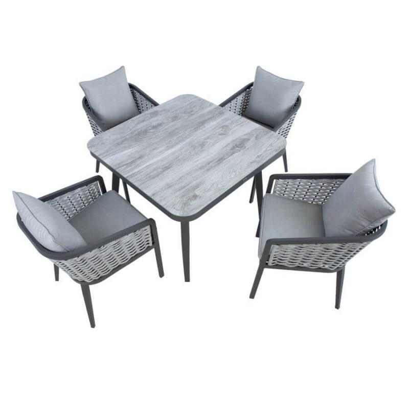 Sodo baldų komplektas MARIE, 4 vietų, pilkas