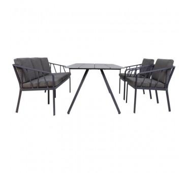 Sodo baldų komplektas KAHLA, pilkos spalvos
