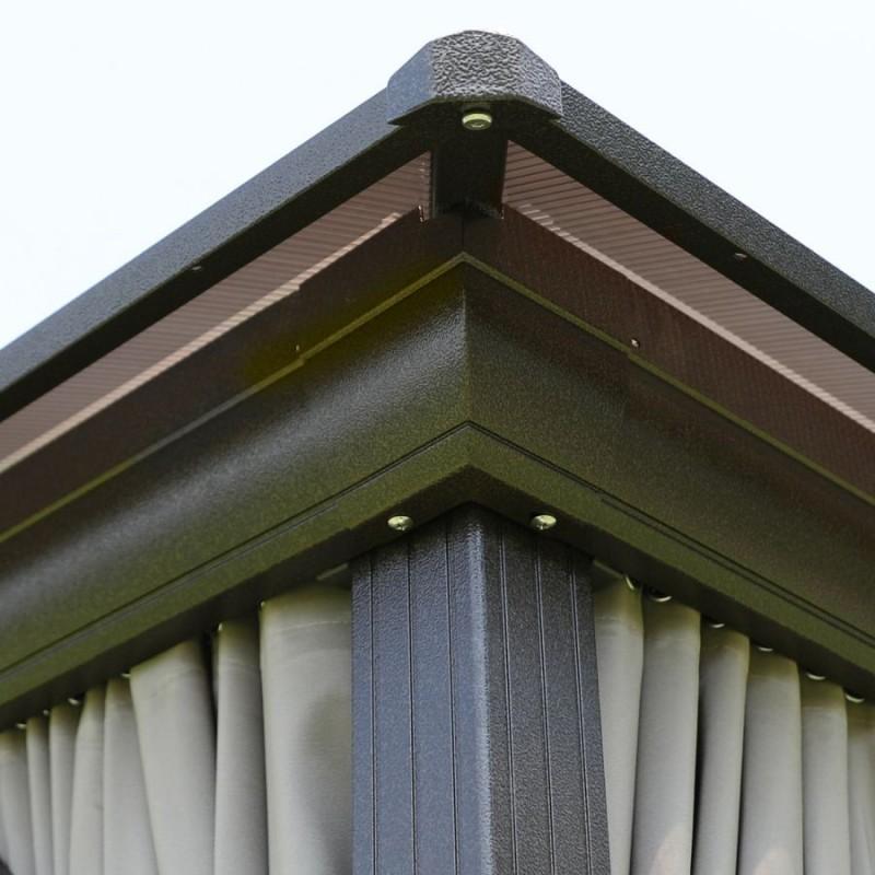 Lauko pavėsinė SAULĖLYDIS, 3 x 4 m, smėlio spalvos