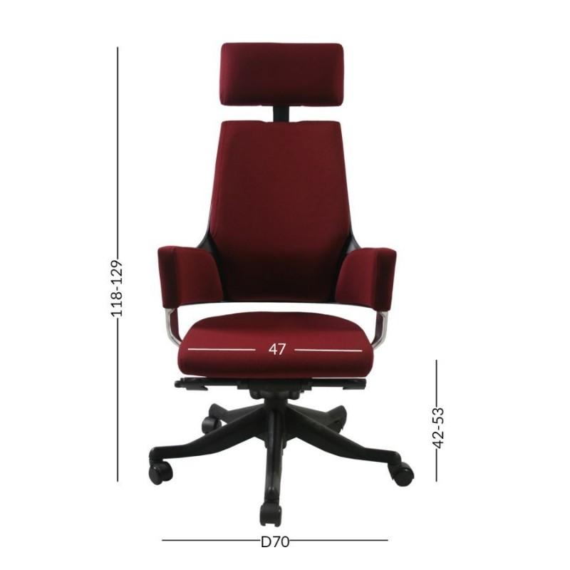 Darbo kėdė DELPHI, tamsiai raudona