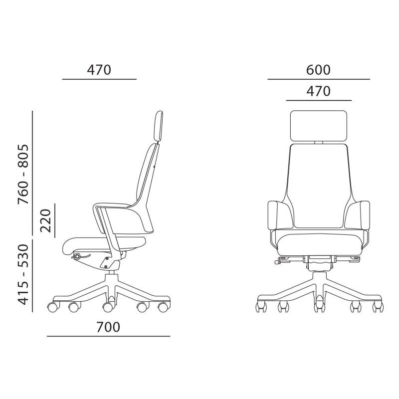 Darbo kėdė DELPHI, juoda