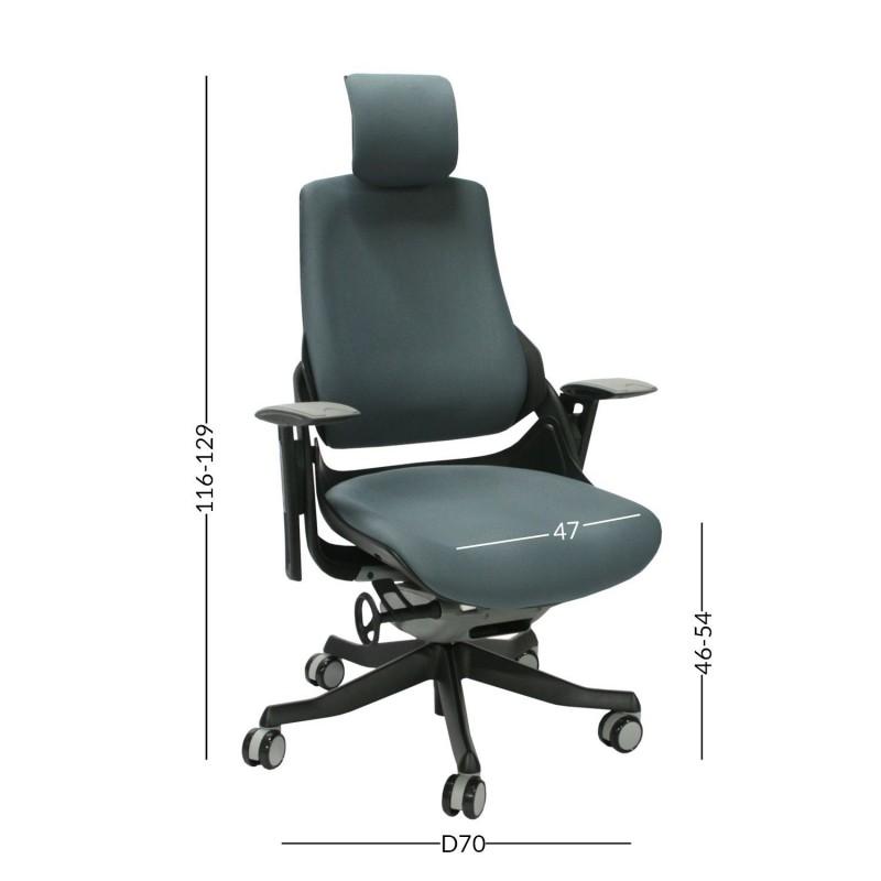 Darbo kėdė WAU, pilka