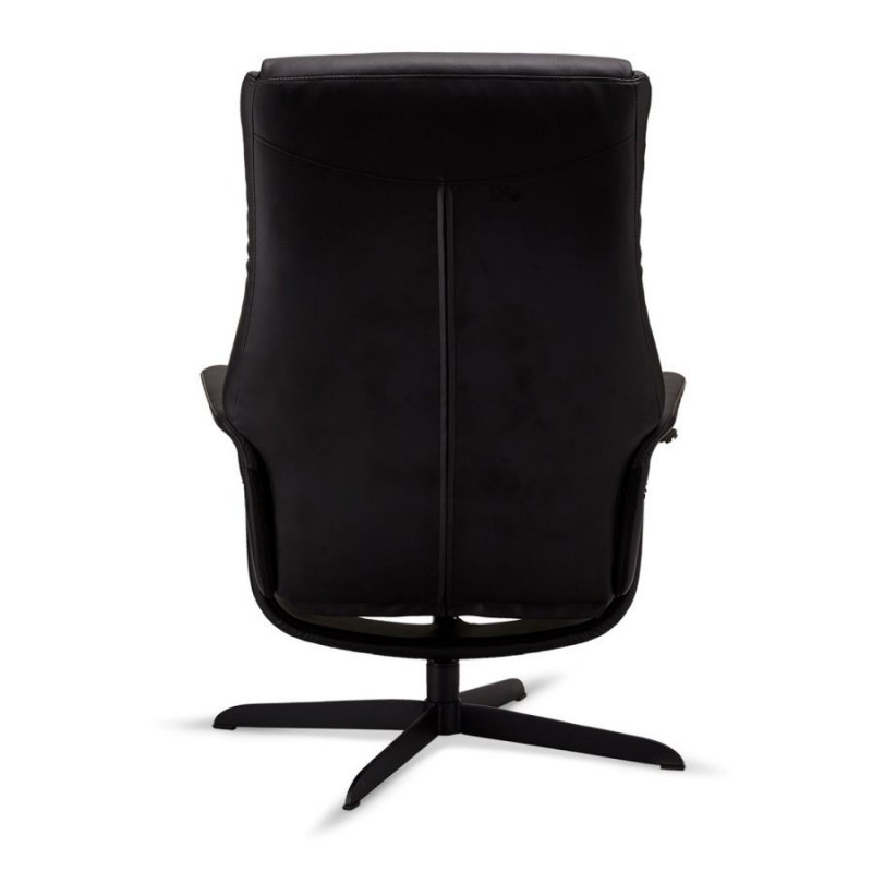 Fotelis su mechanizmu BILBAO su kojų suoleliu, juodas