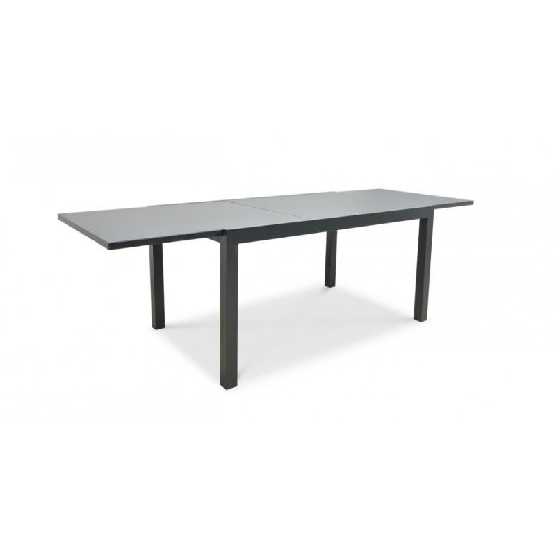 Lauko valgomojo baldai BRISBANE 6/250 su prailginamu stalu