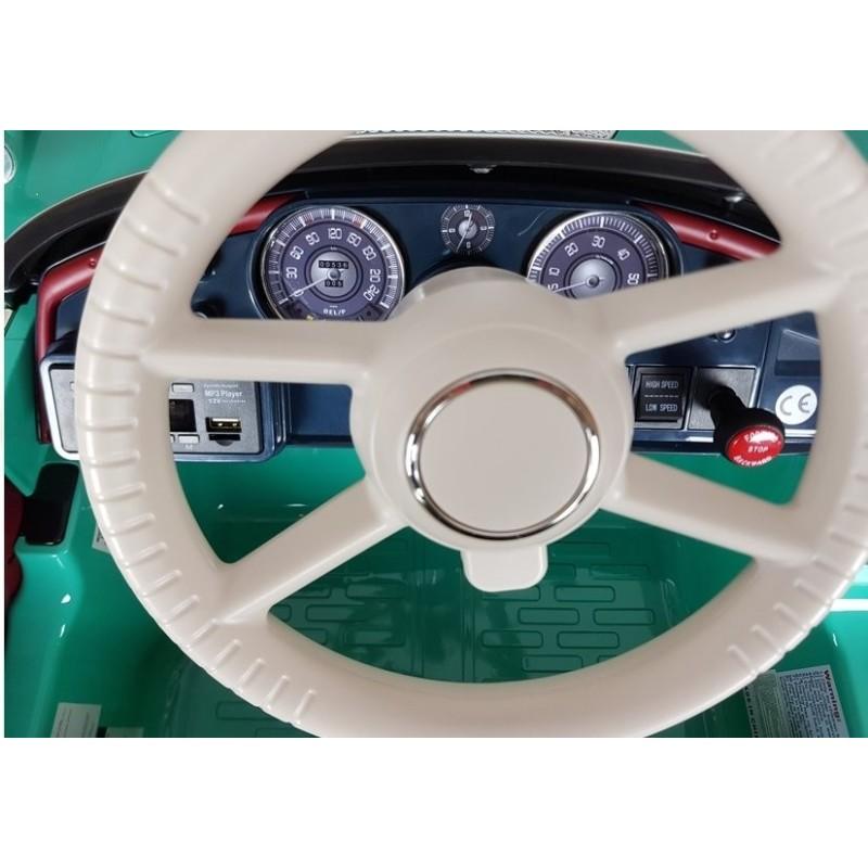 Elektromobilis BMW RETRO, žalias, lakuotas
