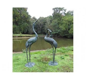 Sodo skulptūra Paukščiai, fontano kranas 183x51x61