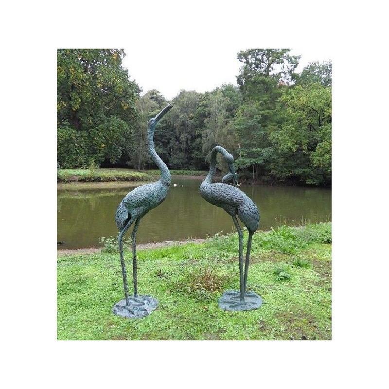 Sodo skulptūra Paukščiai, fontano kranas 183x51x61, 153x51x61-cm