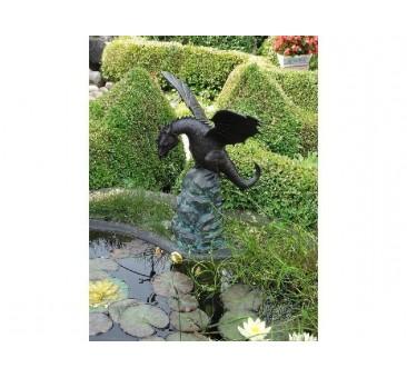 Sodo skulptūra Drakonas, 63x50x40, fontanas