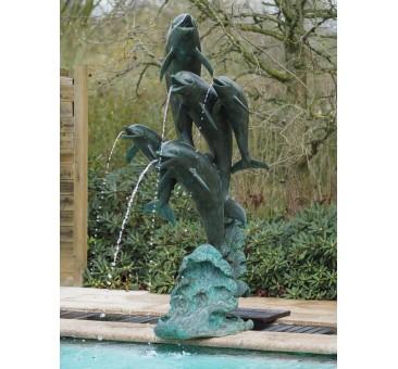 Sodo skulptūra 5 delfinai, fontanas, 206x98x68