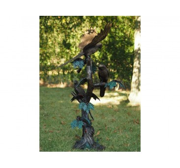 Sodo skulptūra Papūgos, fontanas, 138x55x60