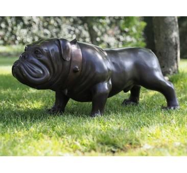 Sodo skulptūra Buldogas, 37x38x78