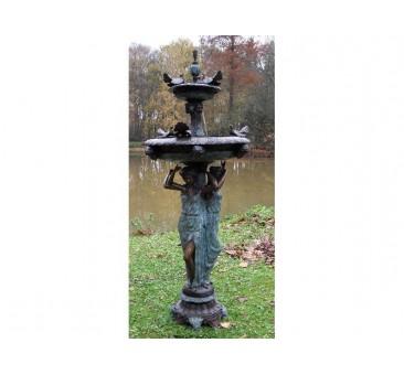 Sodo skulptūra 3 moterys, 205x80x80, fontanas