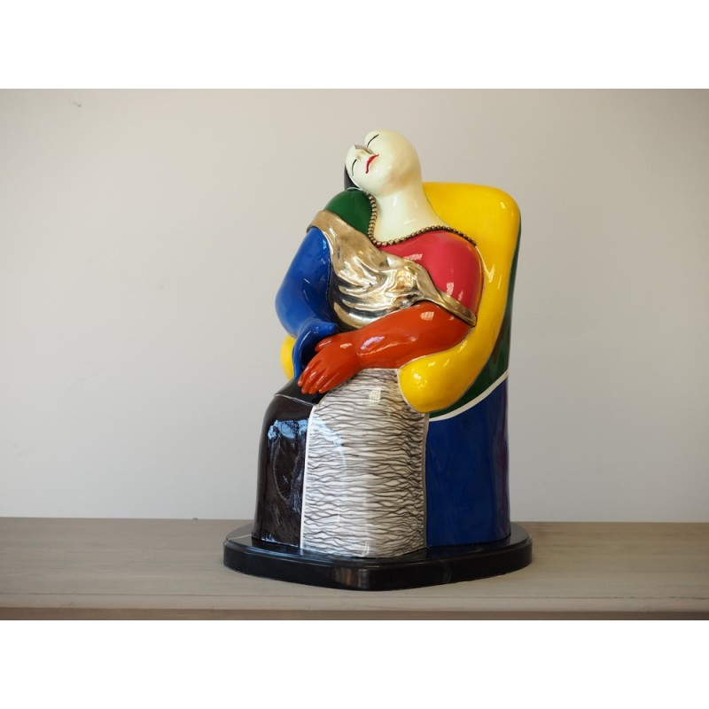 Sodo skulptūra Spalvinga moderni figūra, 65x45x43