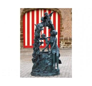 Sodo skulptūra Moteris ir angelai, 208x107x114
