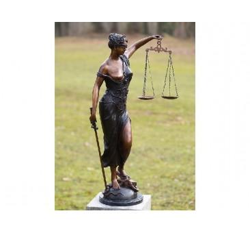 Sodo skulptūra Moteris teisingumas, 89x28x56