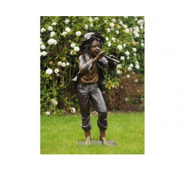 Sodo skulptūra Berniukas su fleita, 110x50x65