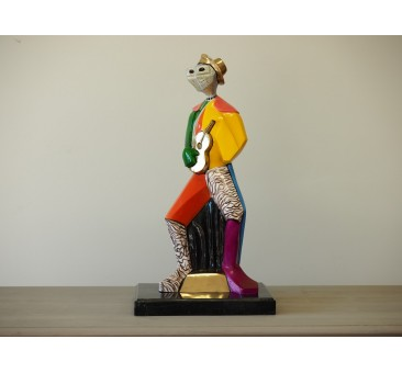 Sodo skulptūra Spalvinga moderni figūra, 62x24x34