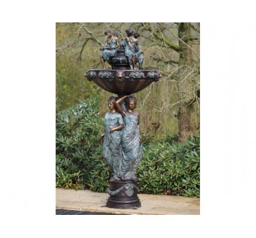 Sodo skulptūra Fontanas su 3 moterimis, 185x75x75